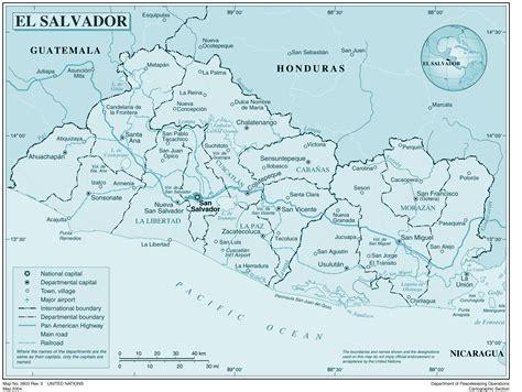 El Salvador Map Free Coloring Pages