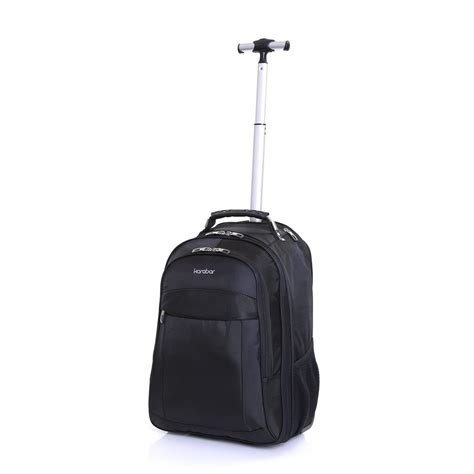 wheeled cabin backpack karabar wheeled laptop trolley suitcase cabin luggage