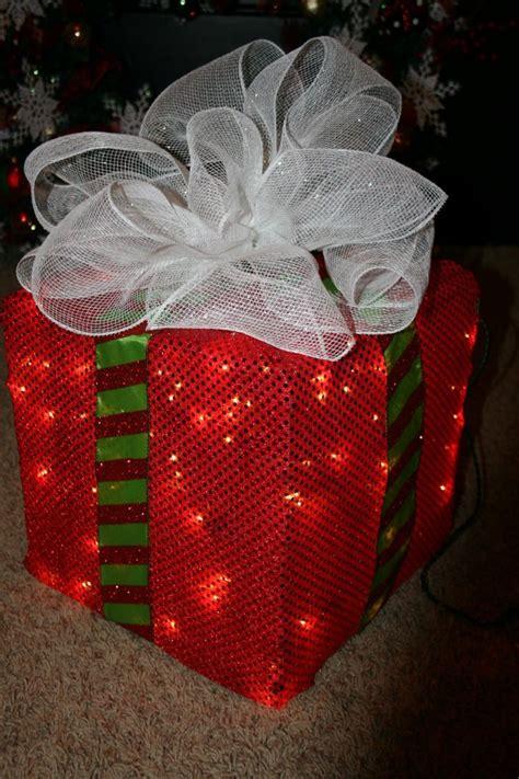 lighted christmas box decoration diy christmas