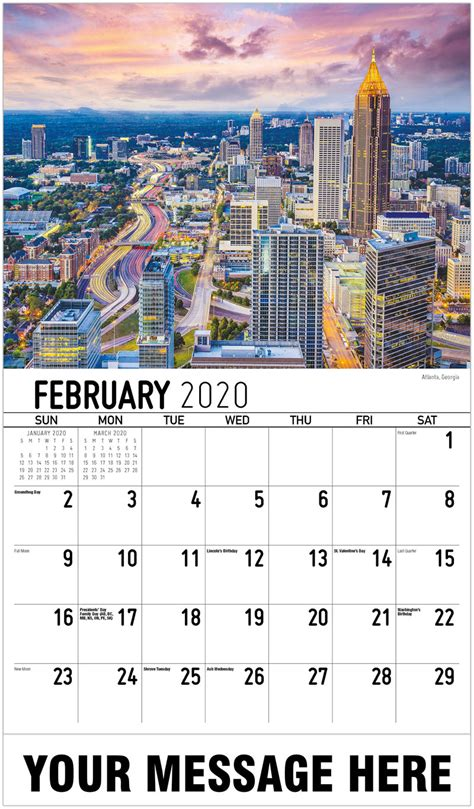 promo calendar america scenic business advertising