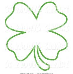 Four Leaf Clover Outline Clip Art