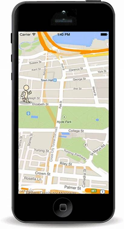 Marker Google Maps Screen Gps Animated Mobile