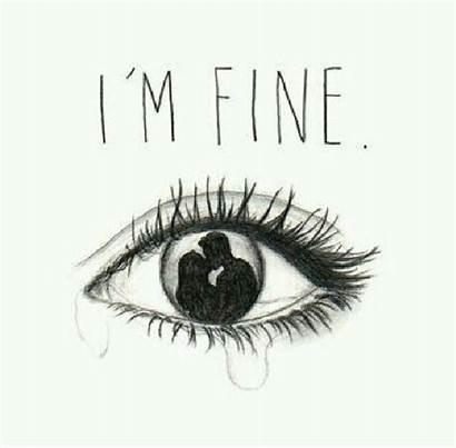 Fine Im Crying Eyes Eye Drawings Outline