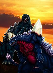 Godzilla vs. Space Godzilla by DragonosX on DeviantArt
