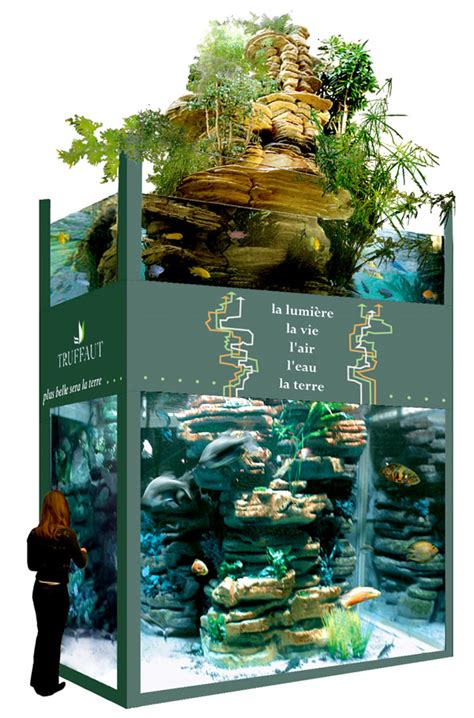 paul louis duranton fabricant de d 233 coration d aquarium mur salle avec v 233 g 233 tation faune et