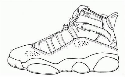 Coloring Jordan Pages Air Jordans Shoes Retro