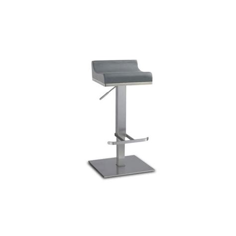 chaise pour table haute tabouret de bar réglable en inox brossé 65 90cm dalllas achat vente tabouret de bar cdiscount