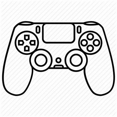Controller Ps4 Playstation Icon Console Games Drawing