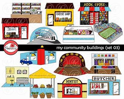 Community Clipart Clip Buildings Creative Transparent Writing