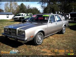 1988 Dodge Diplomat Sedan Pewter Metallic    Beige Photo  8