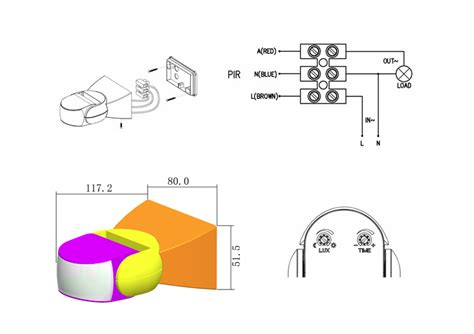ukew 174 black pir ip65 outdoor light motion sensor ukewst15 by www ukew co uk