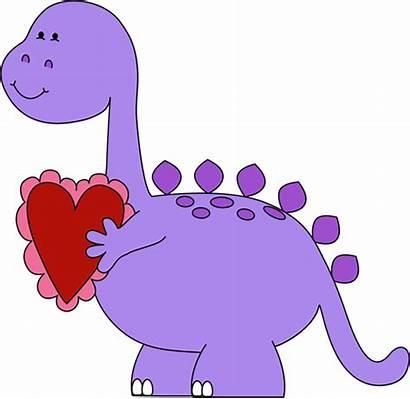 Clipart Valentine Clip Valentines Heart Animals Dinosaur