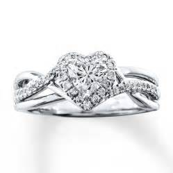 gold shaped engagement ring engagement ring 3 4 ct tw shaped 14k white gold
