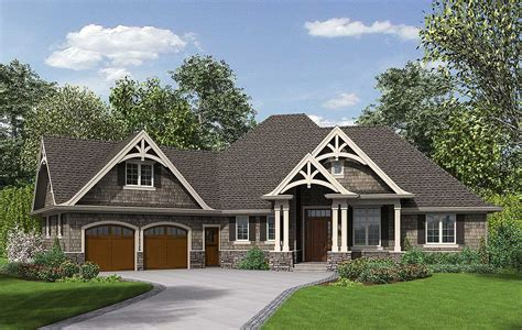 House Plans by 3 Bedroom Craftsman Home Plan 69533am Architectural