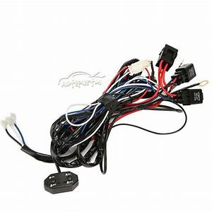 12v 40a Led Work Fog Light Bar Combo Drl Wiring Harness Kit Switch Relay 3 Mode