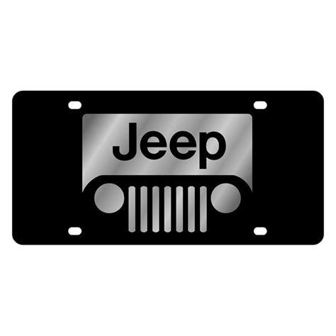 jeep cherokee grill logo eurosport daytona 3414 1 mopar black license plate with