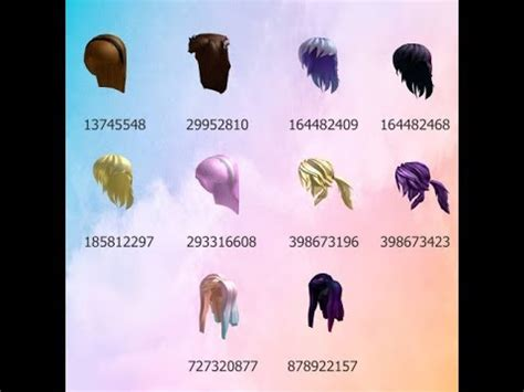 roblox high school codes hair clothes makeuptutororg
