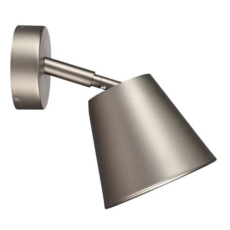 nordlux ip s6 wall light with shade brushed steel