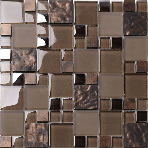 mosaic tile backsplash kitchen mosaic decor brown glass mosaic kitchen backsplash tile