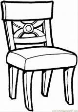 Coloring Kitchen Table Chairs Printable Chair Visit Stoel Kleurplaat sketch template