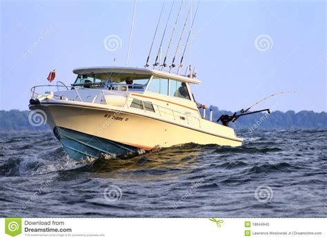 Fishing Boat For Sale In Ontario by Boat Fishing Lake Ontario For Salmon Editorial Image