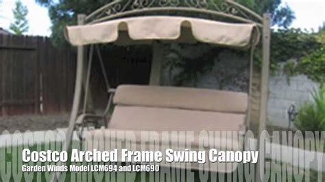 costco arched frame swing replacement canopy  garden winds youtube