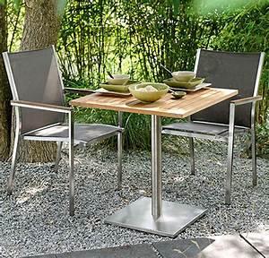 Stern Gartenmöbel Sale : stern 3tlg balkon set cardiff tisch 70x70cm alu teak artjardin ~ Orissabook.com Haus und Dekorationen