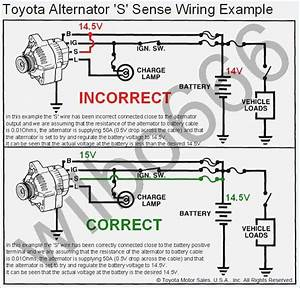 Wiring Diagram Toyota Alternator S Sense Wire Example