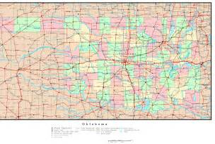 Oklahoma County Map with Cities