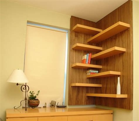 corner wall shelf ideas  maximize  interiors