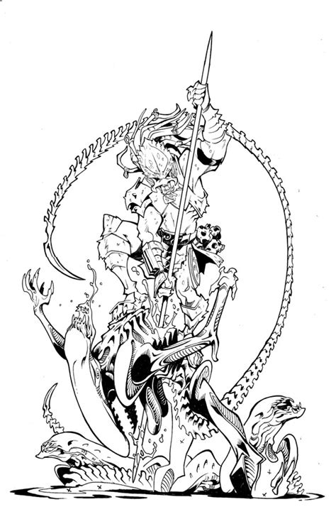 Avp Alien Vs Predator Coloring Pages 2 Coloring Pages