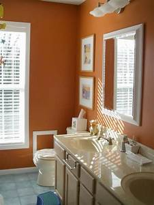25 best ideas about burnt orange bathrooms on pinterest With best brand of paint for kitchen cabinets with ohio state wall art