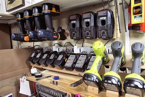 power tool mounts garage organization ideas
