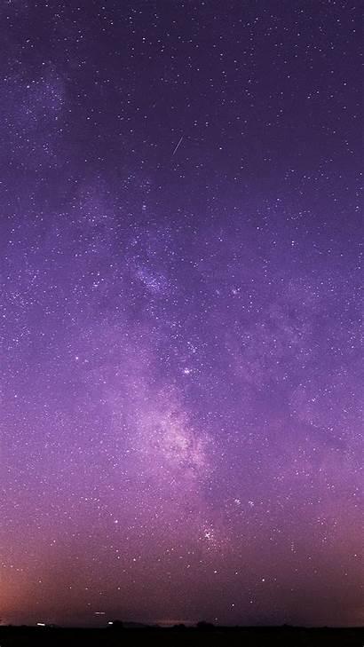 Sky Night Wallpapers Purple Stars Android Milky