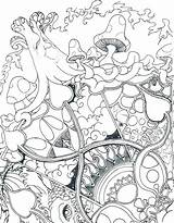Mushroom Coloring Trippy Pages Printable Print Getcolorings Colo sketch template