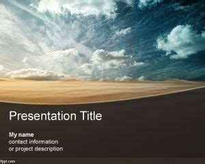 desert powerpoint template  sand