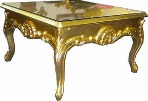Casa padrino barock beistelltisch gold couch tisch for Tisch gold