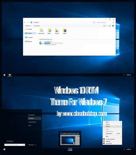 theme bureau windows 7 windows 10 rtm theme for windows 7 by cleodesktop on