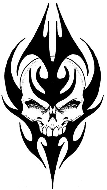 skull tattoos high quality   flash designs