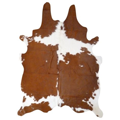 White Cowhide Rug by Real Cowhide Rug Brown And White 7 X6 Real Brown And