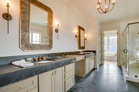 stunning master bathroom  soapstone countertops