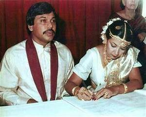 Hon Mahindra Rajapaksa (MP) married Ms Shiranthi ...