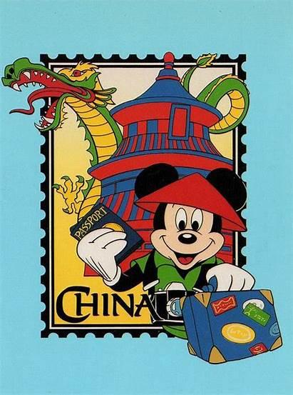 Epcot Disney Mickey China Postcard Mouse Chinese