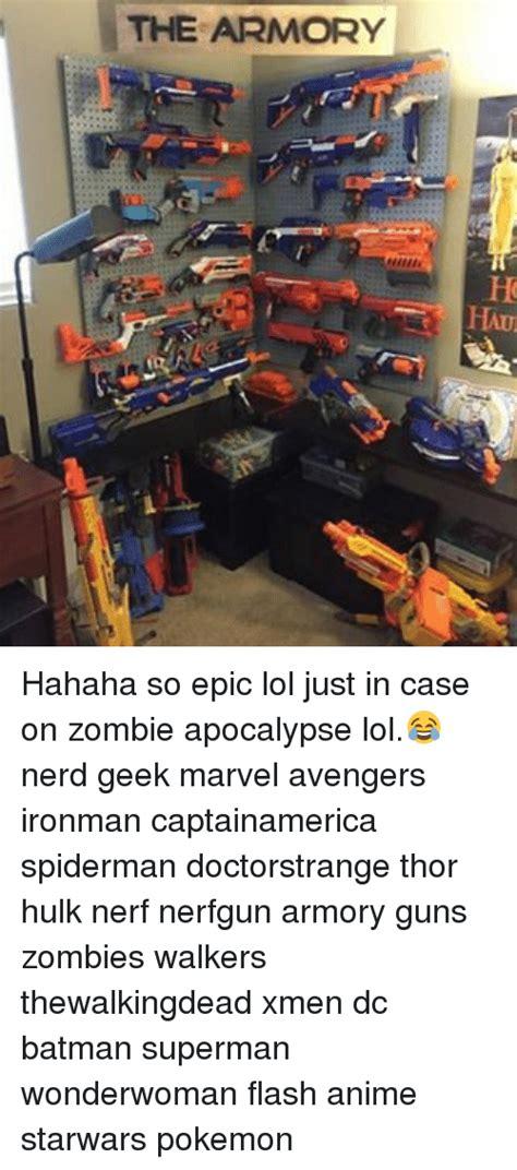 zombie apocalypse lol memes spiderman thor hahaha epic case nerf armory batman captainamerica avengers nerd ironman doctorstrange geek marvel zombies