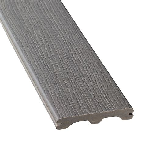 trex decking home depot canada veranda 12 ft composite grooved decking gray the