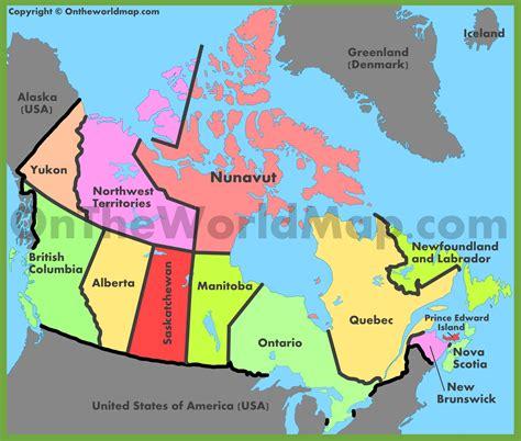administrative map  canada