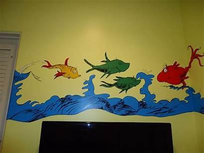 Fish Border Seuss Dr Mural Fishing Gone