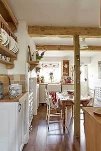 Stone Cottage Country Kitchen With Wooden Beams Home