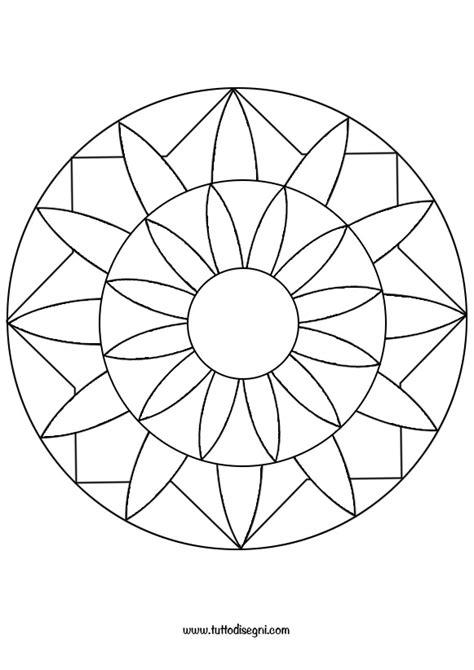 mandala semplice da colorare tuttodisegnicom