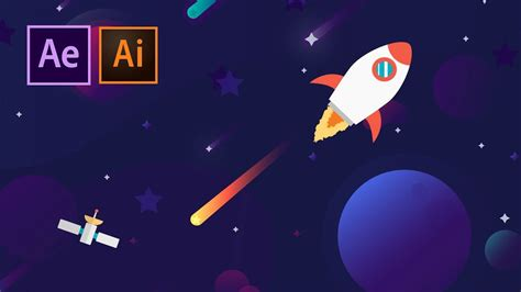It is created using svg and gsap tweenmax library. Create a Cartoon Space Vector Animation | After Effects ...